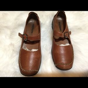 Hush Puppies Concord Cognac Leather Shoes Size 10